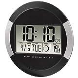 Hama Digitale Wanduhr PP-245, Funkuhr mit Thermometer,...